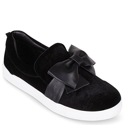 Wanted Tieback Slip-on Fashion Sneaker Black PebgeF9Z