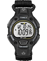 Timex Men's T5K693GP Ironman Traditional 30-Lap Full-Size Fast Wrap Velcro Strap Watch