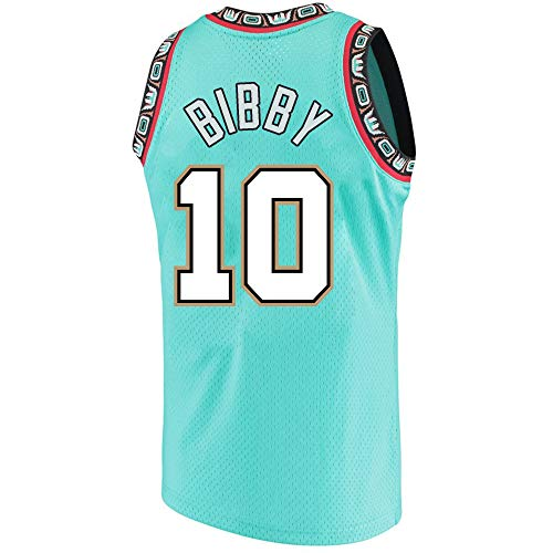 Haeyev Men's Bibby Retro Jerseys Green Athletics Jersey Basketball #10 Jersey (XL)