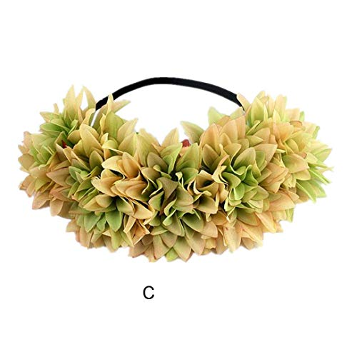 Jinjiums women's Headdress,1PC Halloween Young Girl Headband Yak Horn Hair Tiara Headband Hair Hoop Headdress Rave Party (C)