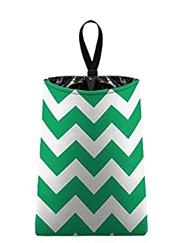 Auto Trash (Green Chevron) by The Mod Mobile - litter bag/garbage can for your car