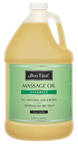 Bon Vital Naturale Massage Oil Made with Natural Ingredients for an Earth-Friendly & Relaxing Massage, Revives and Rehydrates Dry Skin Naturally, with Green Tea Extract for Added Skin Benefits, 1 Gal (Massage Bon Lotion Naturale Vital)