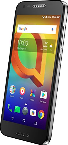 Alcatel A30 GSM Unlocked Smartphone (AT&T/T-Mobile) - 5'' HD Display, 16 GB, 5MP Selfie Camera, and Android 7.0 Nougat [Black] by Alcatel (Image #1)