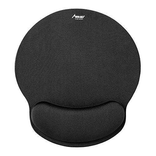 Mouse Pad, MAD GIGA Mouse Mat with Wrist Support for Computer, Non-Slip Rubber Base Ergonomic Mousepad Laptop Home, Office & Travel (Single)