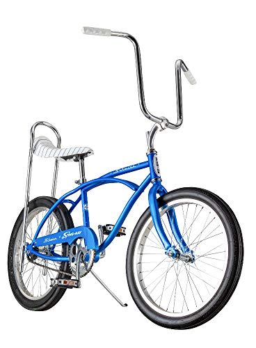 (Schwinn Classic Sting-Ray Boy's Single-Speed Bicycle, Featuring 13-Inch/Small Step-Over Steel Frame, Rear Coaster Brake, High-Rise Ape Handlebars, and 20-Inch Wheels, Blue)