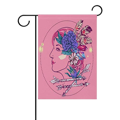 Raininc's Boho Style Girl Personalized Garden Flags Decorati