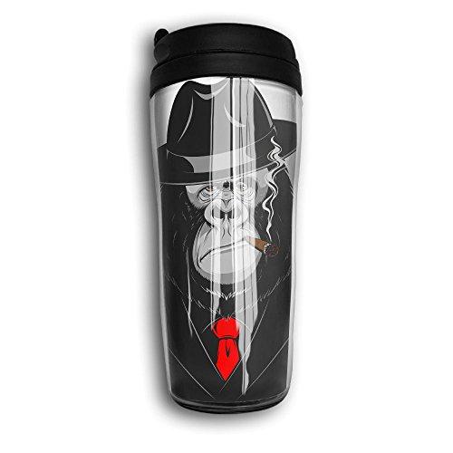 aa26ad6b0afc Water Bottles, Chimpanzee Decaf Mountain Outdoor Coffee Mug Carry Hand Cup  Reusable Plastic Curve Travel Mug Coffee Tumbler For Women Men Kids Teens  ...