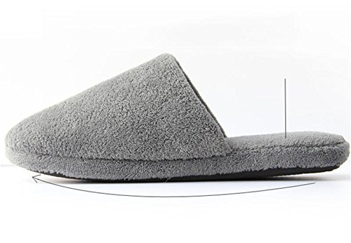 Gris Hombres cómodos Slip 44 41 algodón casa cálidos para de al la Gris Simples W Gray Zapatillas Zapatos Aire Zapatos de Libre la amp;XY habitación Color para de q4UxzwHxt