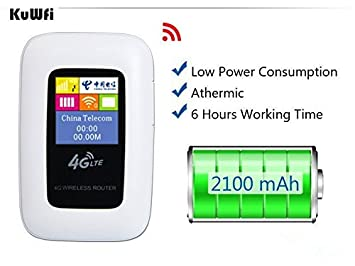 kuwfi Mini - 4 G LTE Router WiFi abierto 100 Mbps cosido ...