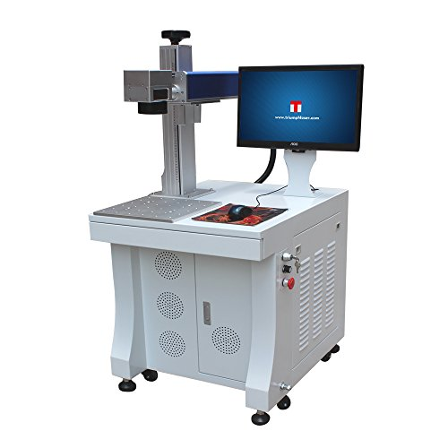 Triumph Fiber Laser Marking Machine 30w For Permanent Metal Parts Marking and Engraving with rotary attachment