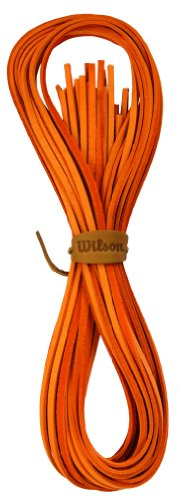 Wilson Pro Glove Lace Replacement (6 Strands To Do Entire Glove) (Orange) by Wilson