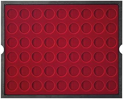 Lindner 2494-10 Estuche de madera maciza CARUS (para monedas hasta 25,75 mm Ø): Amazon.es: Juguetes y juegos