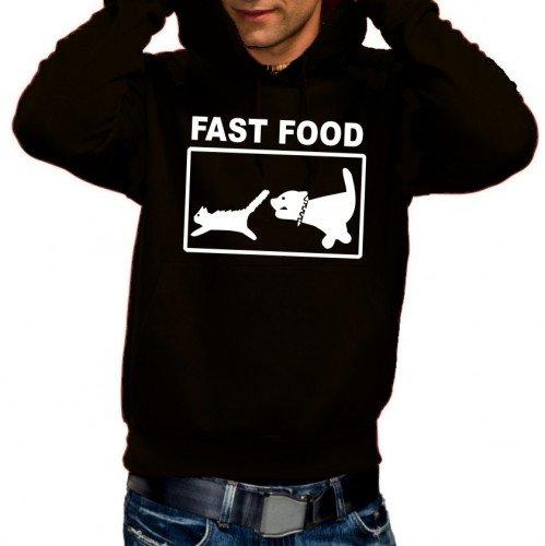 Coole-Fun-T-Shirts Herren Sweatshirt FAST FOOD - Hoodie