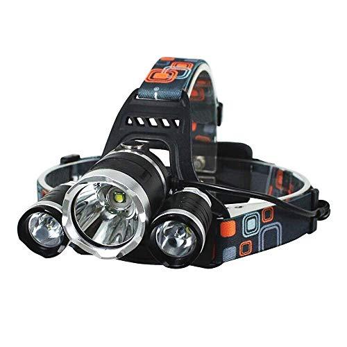 (KLSHW Headlights - High Power 3T6 Glare Long-Range Charging Three Headlights 6000LM Fishing Fashion Led Flashlights )