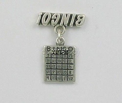 ble Bingo Charm Jewelry Making Supply, Pendant, Charms, Bracelet, DIY Crafting by Wholesale Charms ()