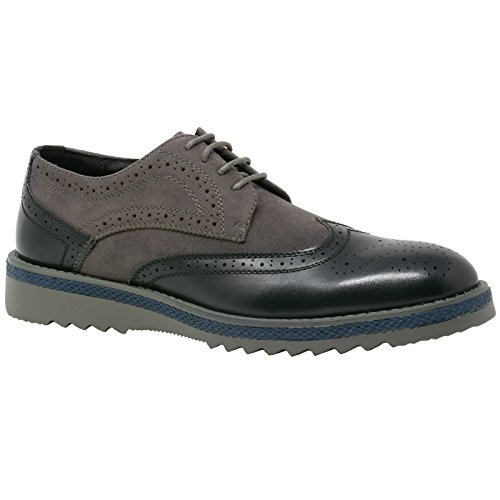alpine swiss Alec Men's Ripple Sole Wingtip Shoes Leather Lining & Insole