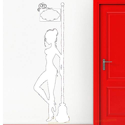 Zaosan Pegatinas de Pared de Mujer escolta Chica luz roja ...
