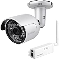 Edimax IC-9110W 720P HD Wi-Fi Mini Outdoor Network Camera with 139-degree Wide Angle View, Supports passive PoE injector