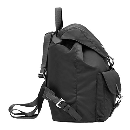 9a9e05d64fc357 Prada Tessuto Zainetto Nylon and Leather Backpack BZ2811, Black / Nero