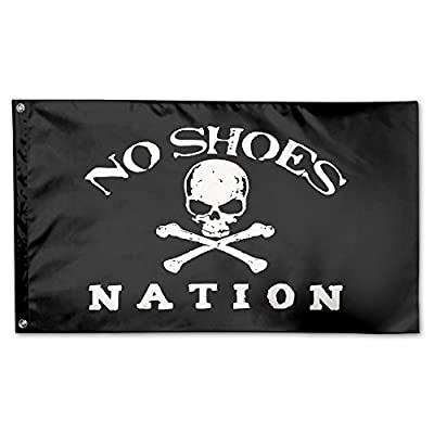 GNJY No Shoes Nation Flag Fly Breeze -Polyester- Flags With Brass Grommets 3 X 5 FT
