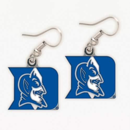 NCAA Team/School Logo Hypoallergenic Dangle Earrings (Duke Blue Devils)