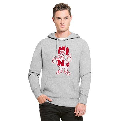rnhuskers Men's Headline Pullover Hoodie, Large, Slate Grey ()