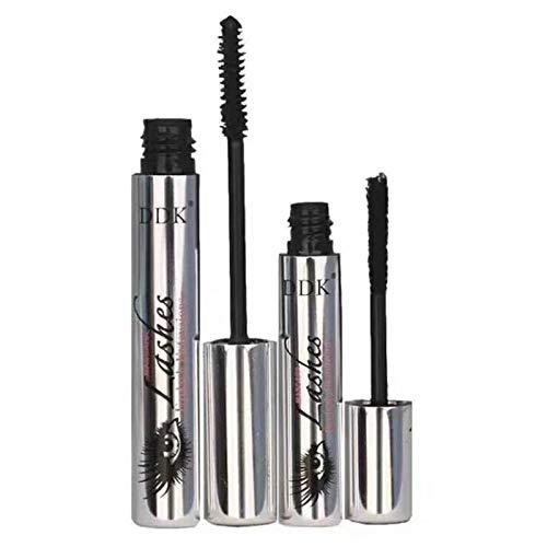 (2Pcs 4D Silk Fiber Eyelash Mascara Magic Black Makeup Eyelash Extension Lengthening Volume Waterproof)