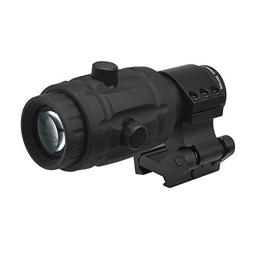 Beileshi Tactical Optics 4X Magnifier Scope with Quick Flip to Side FTS Mount 42mm Center Height for Red Dot Reflex Sight and AIMPOINT Sights