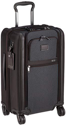 - Tumi Men's Alpha International Dual Access 4 Wheel Carry On, Anthracite, Grey, One Size