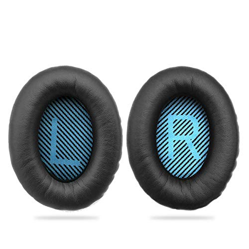 Replacement Earpads Ear Cushion for Bose QuietComfort QC 2 15 25 35 Ear Pads for QC2 QC15 QC25 QC35 SoundLink SoundTrue Around-Ear II AE2 (QC25 Earpads(Blue Mat))