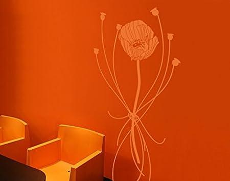 WandTattoo No. ul86 Amapolas Composición Planta Flores primavera ...