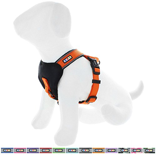 Pawtitas Padded Harness Puppy Harness Dog Harness Reflective Harness Behavioral Harness Training Harness Medium Harness Orange Harness