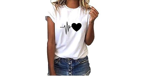 Camiseta de manga corta para mujer con texto en inglés