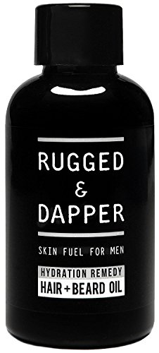 RUGGED & DAPPER – Beard Oil for Men – Organic & Natural Beard Treatment for Mustaches, Beards & Hair – a Barber-Quality Blend of Essential Oils with a Masculine Scent - Beard Of Hair Types