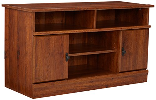 41Uj%2BduAi7L - Sauder Harvest Mill Panel TV Stand, Abbey Oak Finish