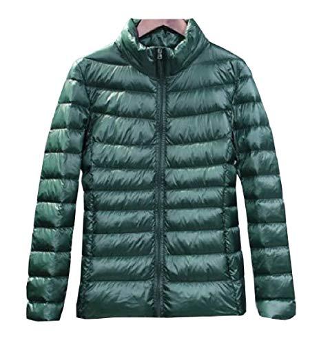 Gocgt Womens Packable Ultra Light Weight Short Down Jacket Coats Blackish Green