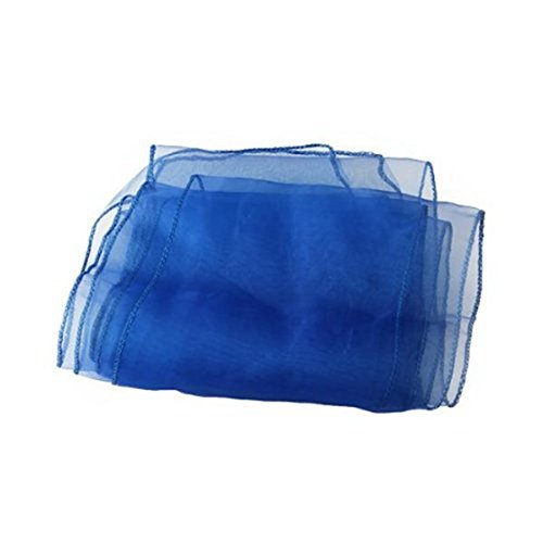Chair Party - 10 Organza Chair Bow Blue Birthday Decoration18x275cm - Decor Covers Chairs Wedding Supplies Chair Decorations Royal Blue Party Favor Sashes ()
