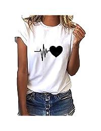 UOKNICE Big Discount T Shirts for Women Graphic,Summer Women's Plus Size Big Chest Shirt Short Sleeve Top