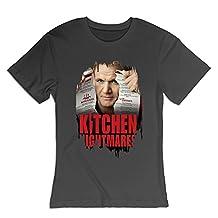 100% Cotton Women's Design Ramsay's Kitchen Nightmares 2004 TV T-shirt Black