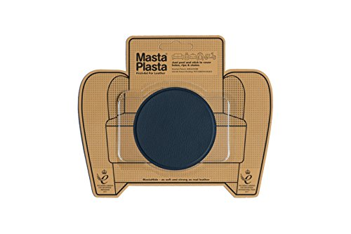 Embossed Blue Circles (MastaPlasta Self-Adhesive Patch for Leather and Vinyl Repair, Large Circle, Navy - 3 Inch Diameter - Multiple Colors Available)