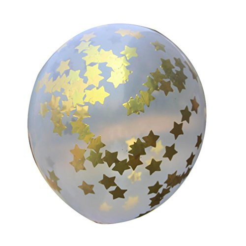 Mybbshower-Metallic-Gold-Foil-Stars-in-Clear-latex-Balloons-for-First-Birthday-Party-10-Inch-Pack-of-5