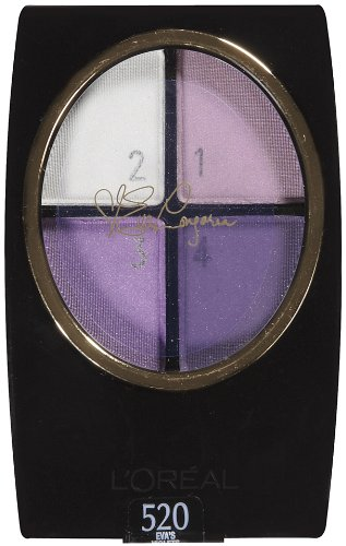 L'Oreal Paris Wear Infinite Star Secrets Eye Quads, Eva's Violets, 0.16 Ounce