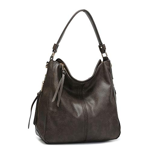 DDDH Large Women's Hobo Handbags PU Leather Purse Bag Cross-body Shoulder Bag Vintage Top-handle Bucket ()