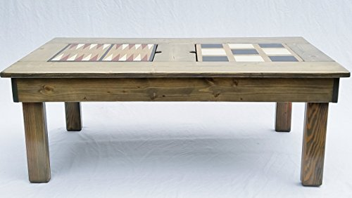 Coffee Table, Game Table Features 4 Games, Indoor or Outdoor