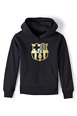 Men's FC Barcelona Logo Hoodie Sweatshirt Soccer Football