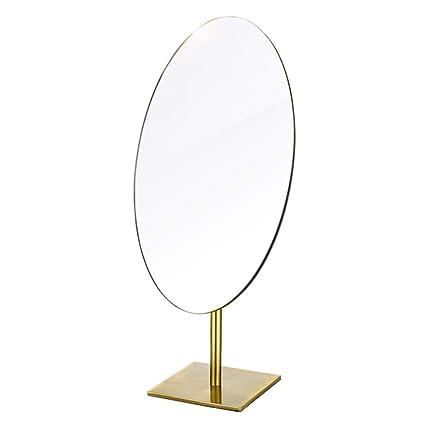 6edf528131a0 Amazon.com: TLMYDD Retro HD Desktop Antique Copper Makeup Mirror ...