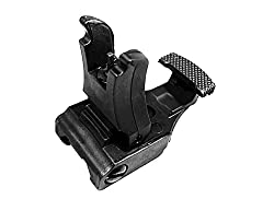 FIRECLUB Front and Rear Sight for Flat Top Rifles Low Profile Flip-Up Sight Set