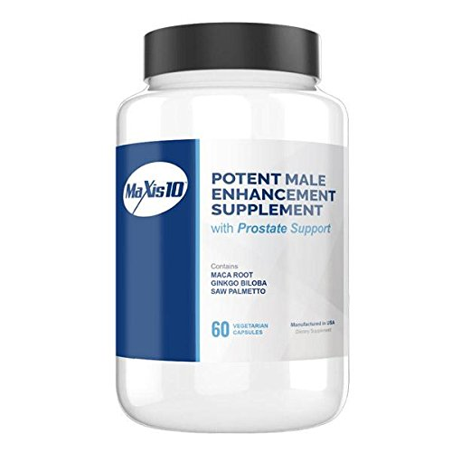MAXIS10 (60ct): A Natural Male Enhancement Pill - Improve Prostate Health, Testosterone Booster, Male Enhancing Pill.