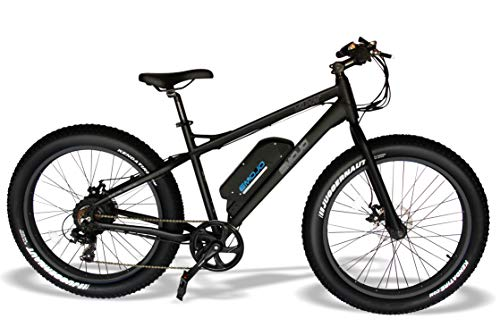 Emojo Wildcat Electric Bike Mountain 26 inch Fat Tire Electric Power Bicycle, with 500W Motor and Removable 48V 10.4AH Lithium Battery (Black)