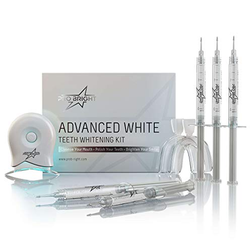 Professional Home Teeth Whitening Kit - 10 Minute Express Whitening | 30 Treatments Per Box | 5 x 3ml Whitening Gel Syringes | 35% Carbamide Peroxide | Patented High Power LED Activator Light